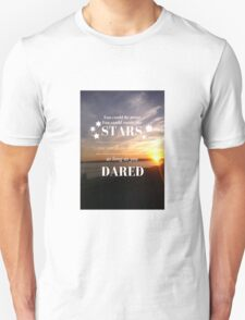 Rattle the Stars- Sarah J Maas, Throne of Glass- Sunset T-Shirt