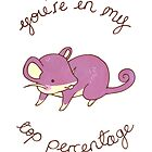 Rattata Card by Stephanie Hodges