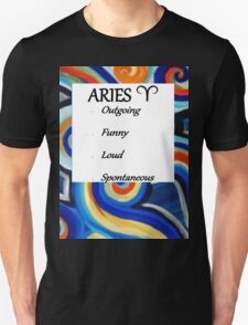 Abstract Aries horoscope shirt T-Shirt
