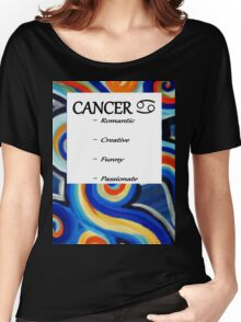 Abstract Cancer Horoscope Tee Shirt Women's Relaxed Fit T-Shirt