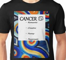 Abstract Cancer Horoscope Tee Shirt Unisex T-Shirt