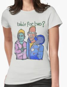 Table for two Womens Fitted T-Shirt