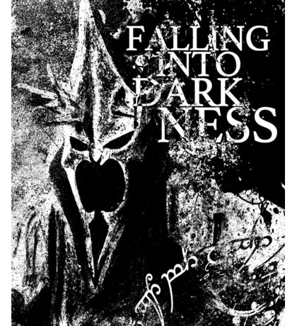 Falling into Darkness Sticker