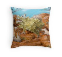 Dogs Attacking a Cubist Beast Throw Pillow