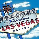 Fabulous Las Vegas Sign Pop Version by Anthony Ross