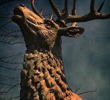 Elk statue by vigor