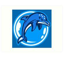 The Ecco Dolphins Art Print