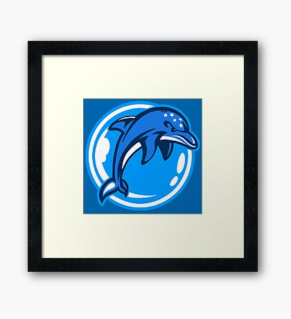 The Ecco Dolphins Framed Print
