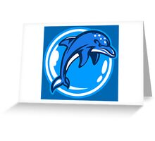 The Ecco Dolphins Greeting Card
