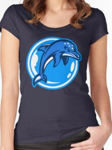 The Ecco Dolphins Women's Fitted Scoop T-Shirt