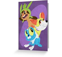 Gen VI Pokemon Starters Greeting Card
