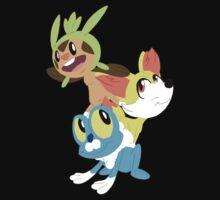 Gen VI Pokemon Starters Kids Tee