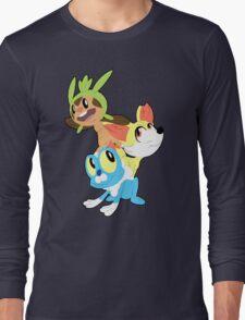 Gen VI Pokemon Starters Long Sleeve T-Shirt