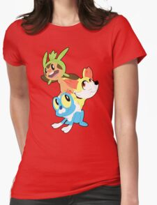 Gen VI Pokemon Starters Womens Fitted T-Shirt