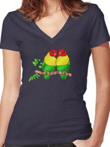 Love Birds Women's Fitted V-Neck T-Shirt