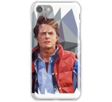 Marty McFly Polygons iPhone Case/Skin