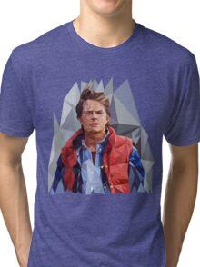 Marty McFly Polygons Tri-blend T-Shirt