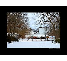 Nikola Tesla's Wardenclyffe Laboratory Building Entrance Gate - Shoreham, New York Photographic Print