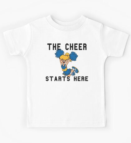 "Cheerleading ""The Cheer Starts Here"" Kids Tee"