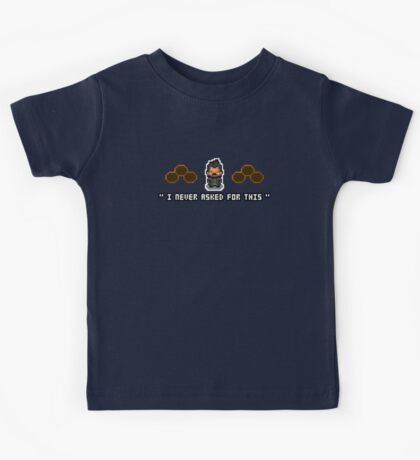 """I Never Asked For This"" - Pixel Adam Jensen Shirt Kids Clothes"
