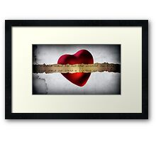to light a flame Framed Print