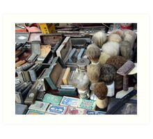 Shaving tools Art Print