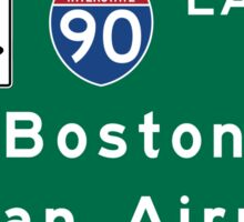 Boston Logan Airport, Road Sign, Massachusetts Sticker