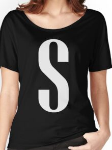 Letter S Print Women's Relaxed Fit T-Shirt