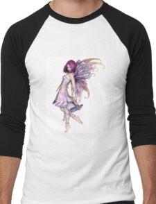 Pretty Purple Fairy Men's Baseball ¾ T-Shirt