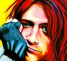Kurt Cobain - Ultra Color Version by MSRowe Art and Design