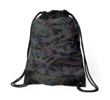 Flora Celeste Magnetite Leaves Drawstring Bag