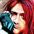 Kurt Cobain - Grungy Version by MSRowe Art and Design