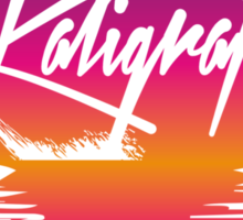 Kaligraf Logo Sunset Sticker