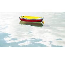 red dinghy 2 Photographic Print