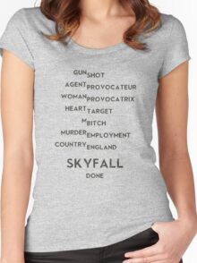 SKYFALL Women's Fitted Scoop T-Shirt