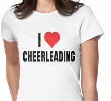 """Cheerleader """"I Love Cheerleading"""" Womens Fitted T-Shirt"""