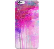 CARNIVAL DREAMS 1 Girly Bubblegum Pink Pastel Sky Whimsical Clouds Abstract Watercolor Painting iPhone Case/Skin