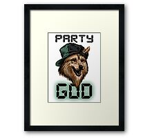 Party God Framed Print