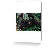 Toothless Mosaic Greeting Card
