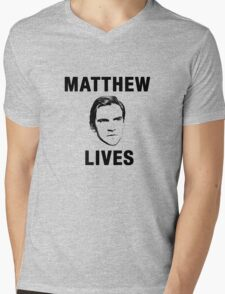 Matthew Lives Mens V-Neck T-Shirt