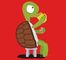 Turtle drinking tea Kids Tee