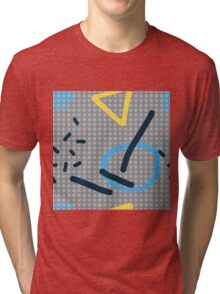 Modern hand draw colorful abstract seamless pattern Tri-blend T-Shirt