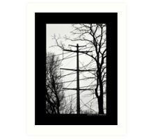Transmission Tower Behind Nikola Tesla's Wardenclyffe Laboratory - Shoreham, New York Art Print