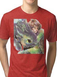 How to train your dragon 'Hug' Tri-blend T-Shirt
