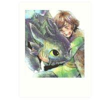 How to train your dragon 'Hug' Art Print