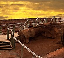 The Slag Heap at Sunset - Moonta Mines by jackgreig