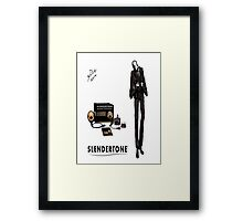 Slenderman Framed Print