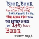 beer meal by Gale Distler