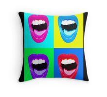 Warhol Lips Throw Pillow