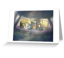 We Can Sit In The Plane, Or We Can Sit in the Rain. Greeting Card